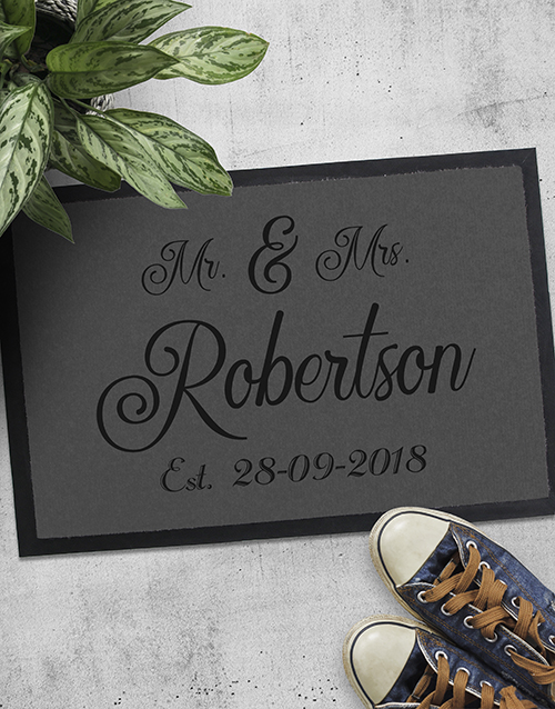 personalised: Personalised Mr And Mrs Date Doormat!