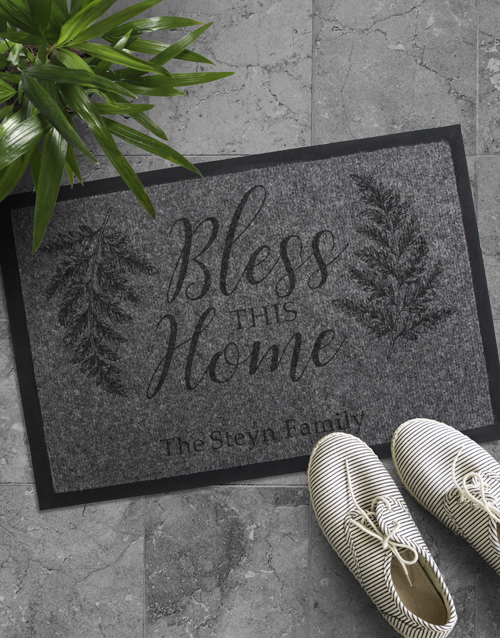 personalised: Personalised Bless The Home Doormat!