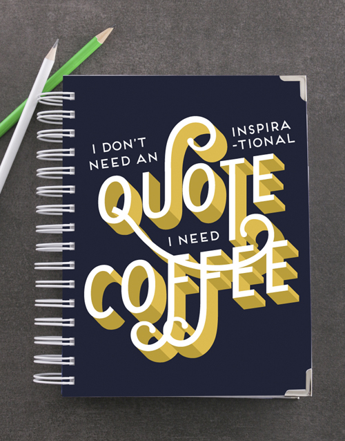 journals: Personalised Need Coffee Goal Journal!
