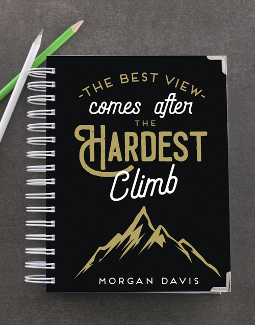 christmas: Personalised Hardest Climb Goal Journal!