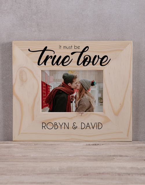 home-decor: Personalised It Must Be True Love Photo Frame!