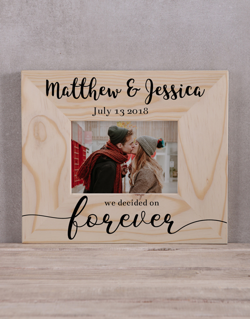 personalised: Personalised We Decided On Forever Photo Frame!