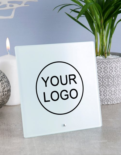 home-decor: Personalised Your Company Logo Blank Glass Tile!