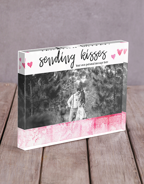 home-decor: Personalised Sending Kisses Acrylic Block!