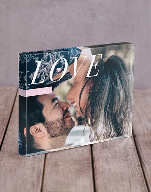home-decor: Personalised Love Initals Acrylic Block!