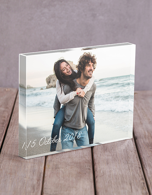 home-decor: Personalised Date Acrylic Block!