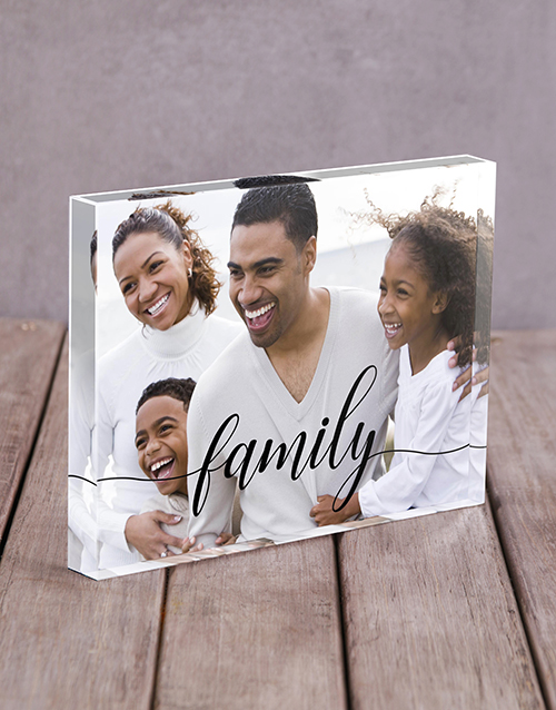 home-decor: Personalised Family Acrylic Block!