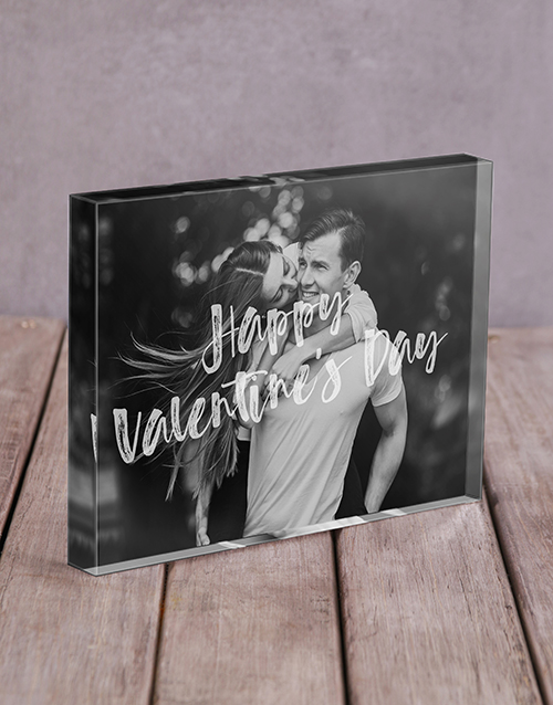 home-decor: Personalised Happy Valentines Day Acrylic Block!