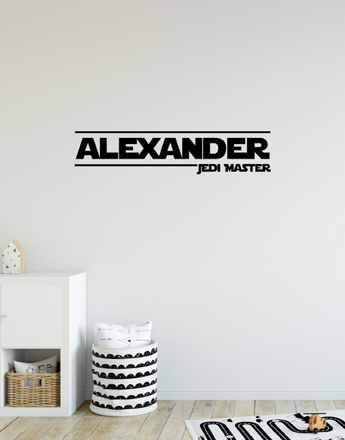 personalised: Personalised Name Jedi Master Wall Vinyl!