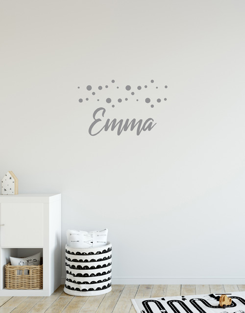 personalised: Personalised Dotted Name Wall Vinyl !