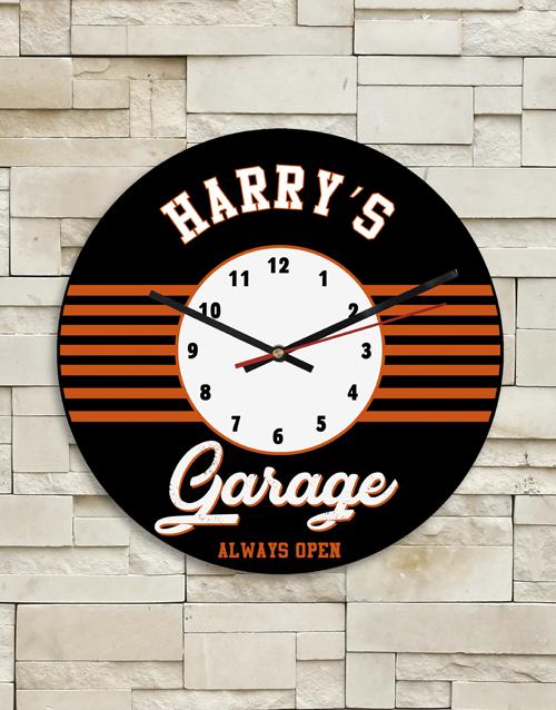 personalised: Personalised Garage Clock!