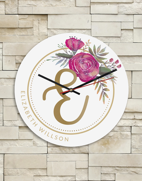 home-decor: Personalised Floral Clock!
