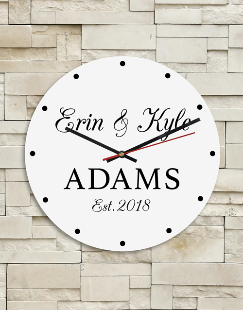 personalised: Personalised Couples Clock!