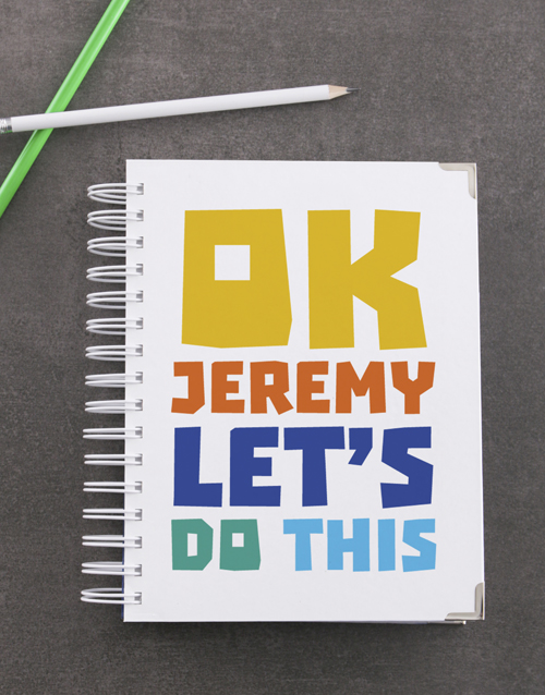 personalised: Personalised Ok Lets Do This Goal Journal!