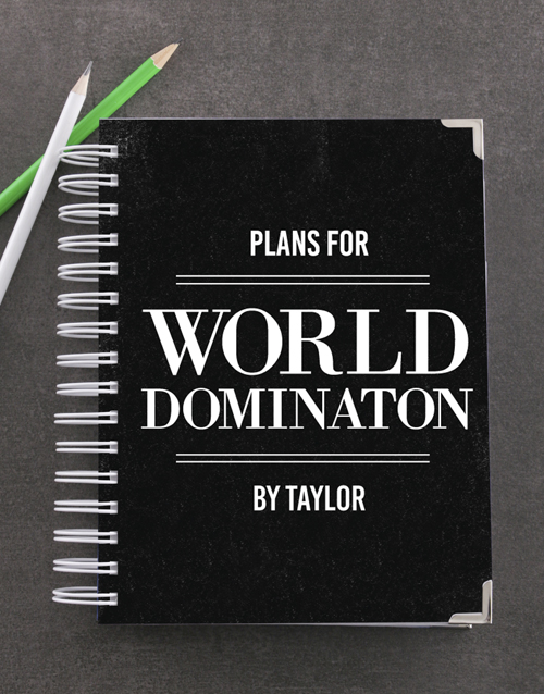 personalised: Personalised World Domination Goal Journal!