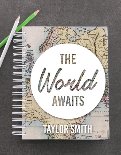congratulations: Personalised World Awaits Goal Journal!