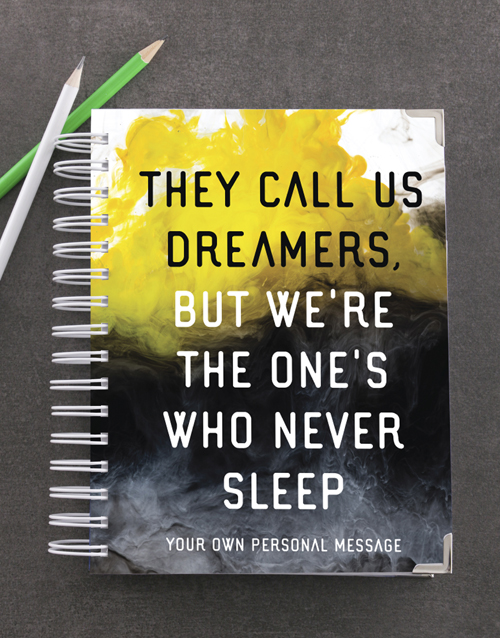 secretarys-day: Personalised They Call Us Dreamers Goal Journal!