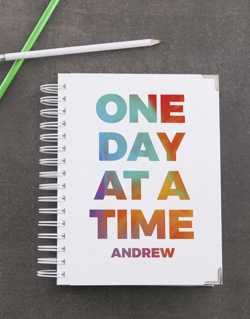 journals: Personalised One Day At A Time Goal Journal!