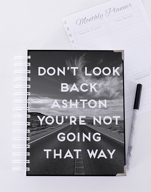 journals: Personalised Dont Look Back Goal Journal!