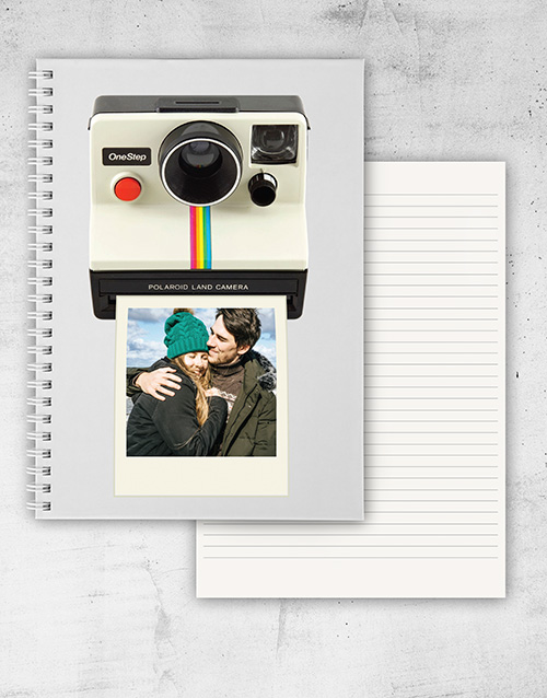 birthday: Personalised Polaroid Notebook!