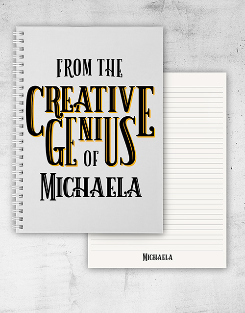 secretarys-day: Personalised Creative Genius Notebook!