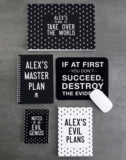 personalised: Personalised Take Over The World Noteset!