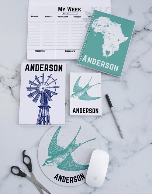 personalised: Personalised Vintage Africa Noteset!