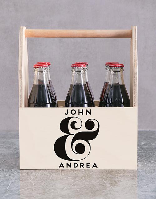 anniversary: Personalised Ampersand Printed Beer Crate!