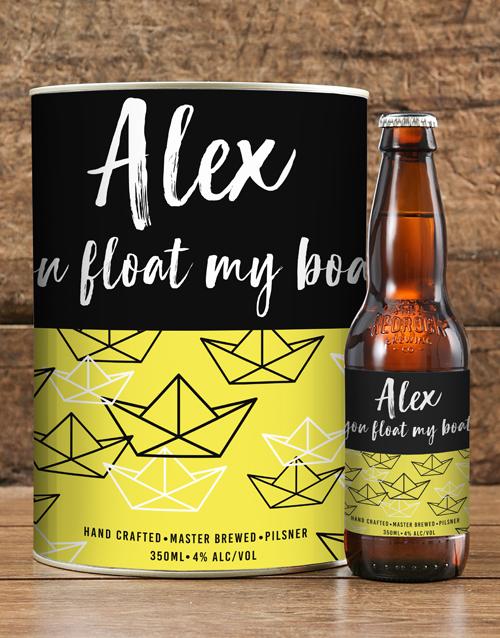 anniversary: Personalised Boat Float Craft Beer!