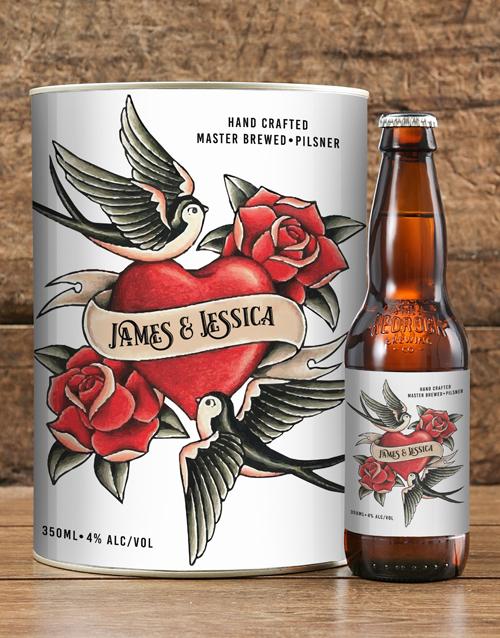 anniversary: Personalised Lovebirds Craft Beer!