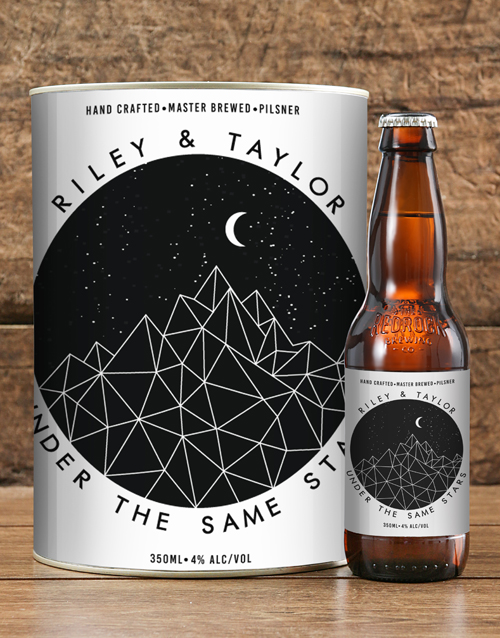 anniversary: Personalised Star Love Craft Beer!