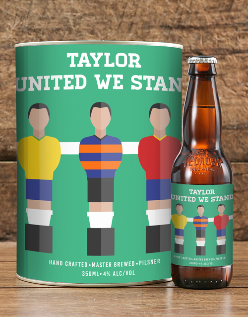 friendship: Personalised Stand United Craft Beer!