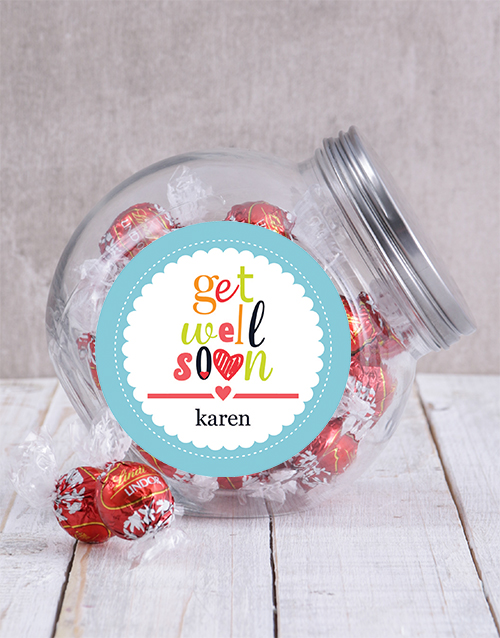 get-well: Personalised Get Well Soon Candy Jar!