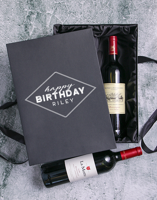 personalised: Personalised Happy Birthday Red Wine Duo!