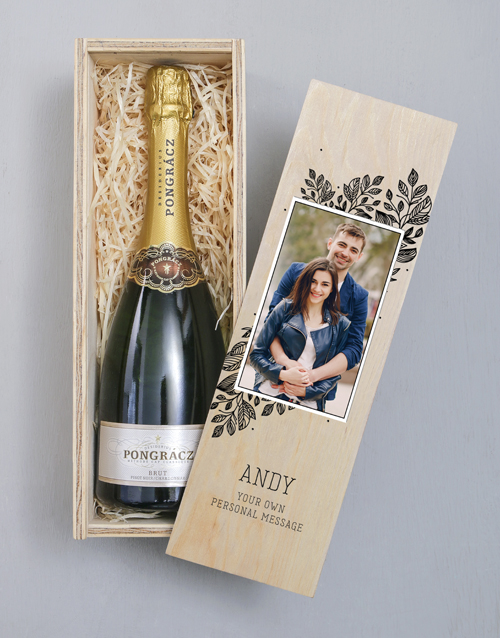 personalised: Personalised Photo Upload Wooden Champagne Crate!