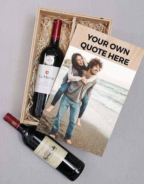 personalised: Personalised Photo Duo Wine Crate!