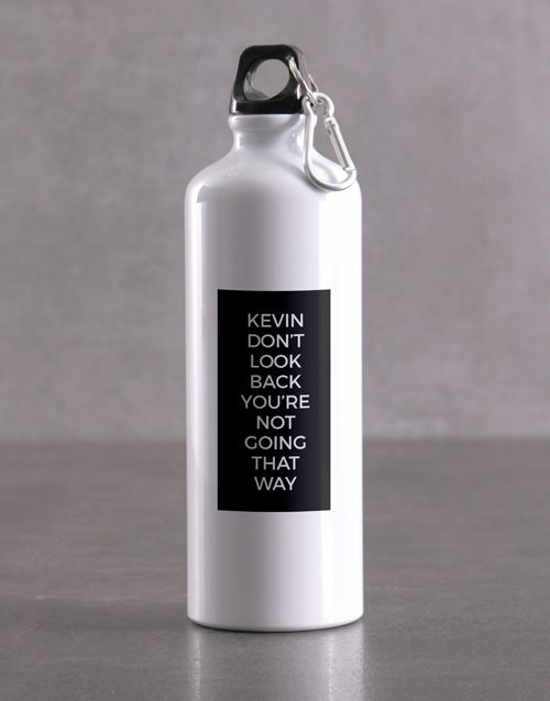 personalised: Personalised Moving Forward Waterbottle!