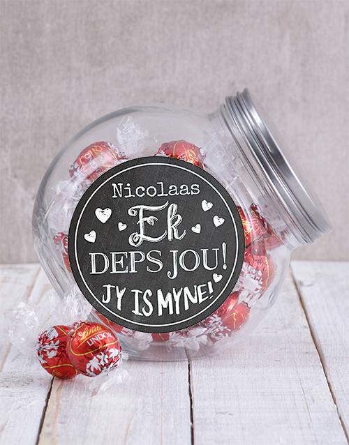chocolate: Personalised Ek Deps Jou Candy Jar!