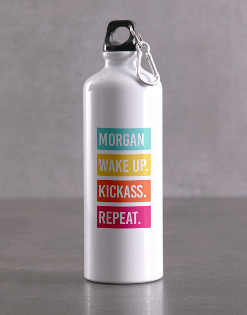 activewear: Personalised Kickass Waterbottle!