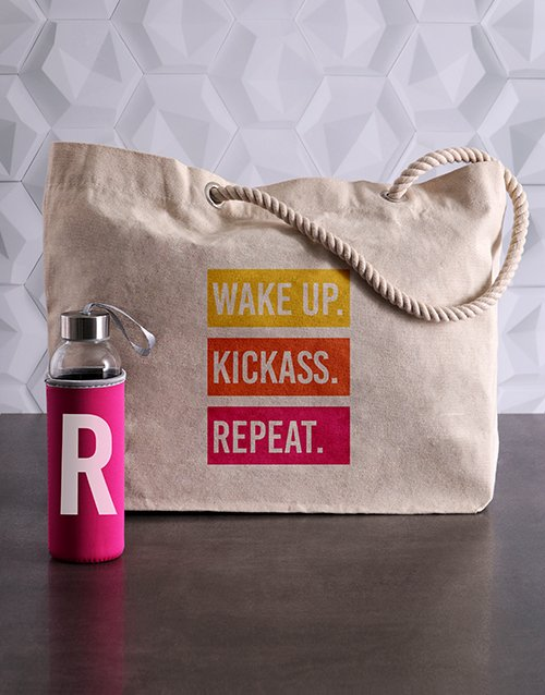mothers-day: Personalised Initial Waterbottle and Tote!