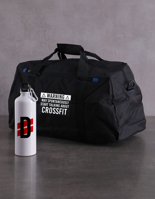 activewear: Personalised Warning Waterbottle and Gym Bag!