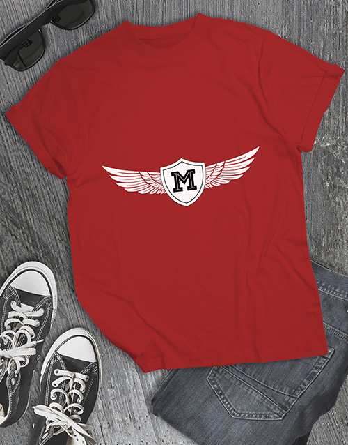 clothing: Personalised Winged Initial T Shirt !