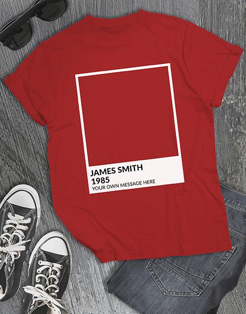 personalised: Personalised Pantone T Shirt!