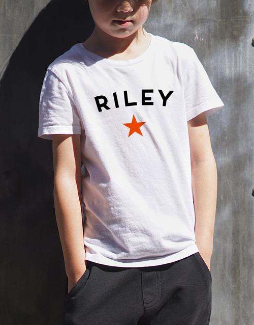 christmas: Personalised Star Name Kids T Shirt!