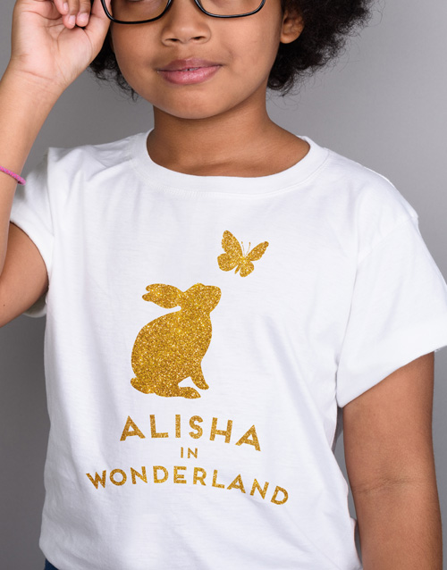 clothing: Personalised Wonderland Kids T Shirt!