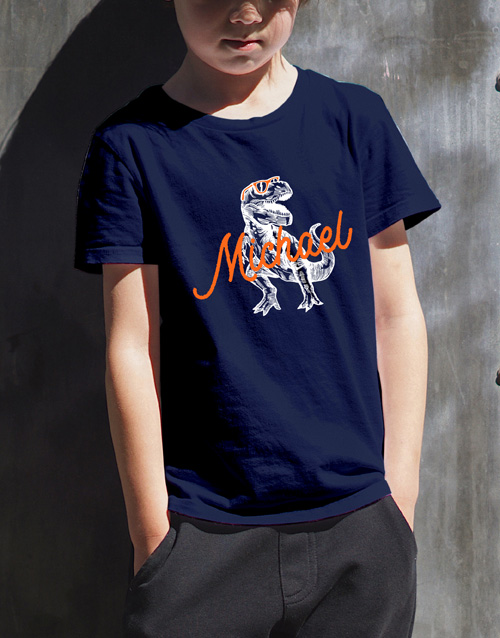 clothing: Personalised T Rex T Shirt!