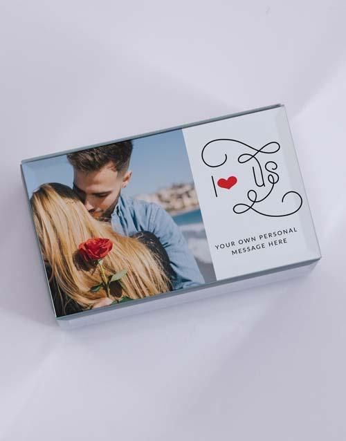 anniversary: Personalised I Heart Us Mirror Trinket Box!