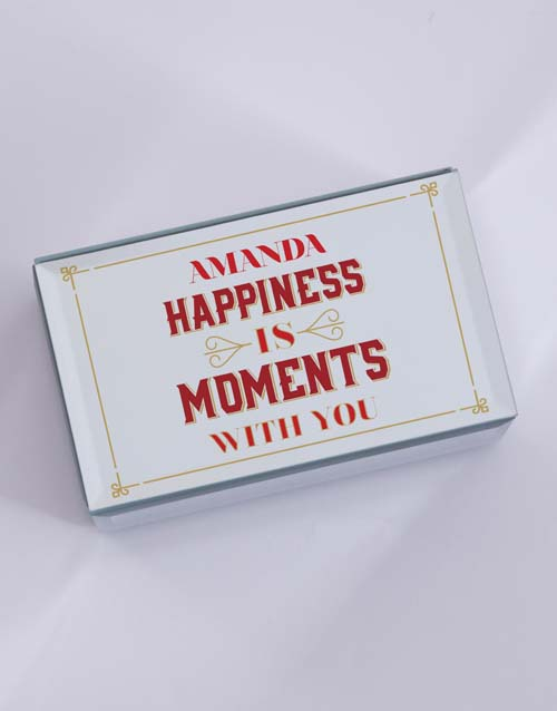 anniversary: Personalised Happiness Is Mirror Trinket Box!