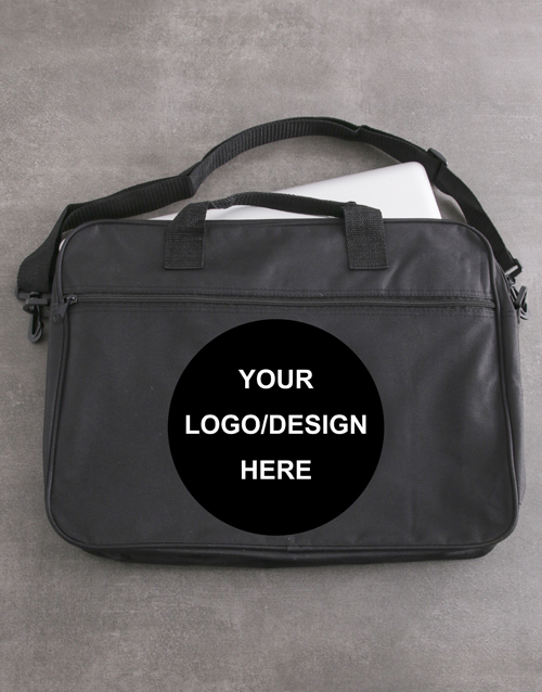 apparel: Personalised Put Your Logo On It Laptop Bag!