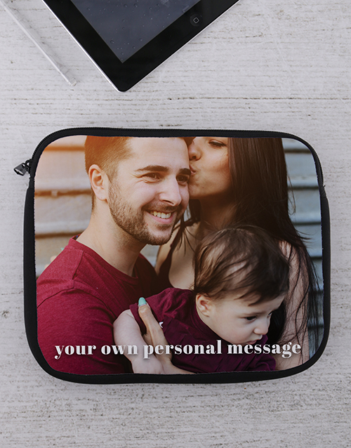 personalised: Personalised Photo Tablet or Laptop Sleeve!
